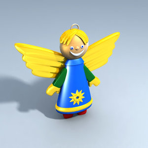 christmas angel christams tree 3d ma