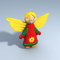 christmas angel christams tree 3ds