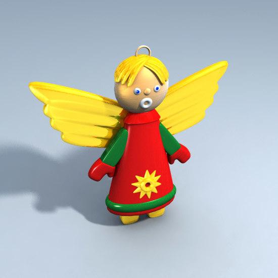 christmas angel christams tree 3ds