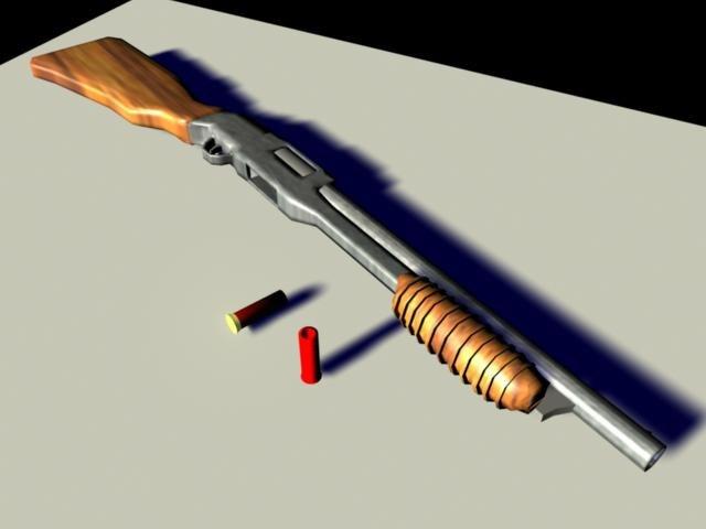 3d model m31 shotgun