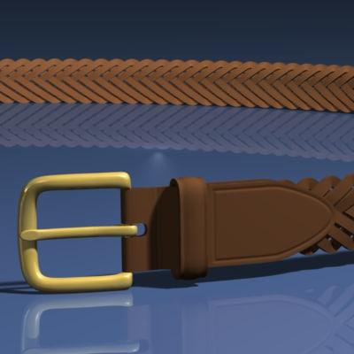 braided belt 3d 3ds