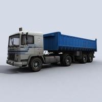 3d model dump truck 2
