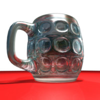 glass beer mud 3d ma