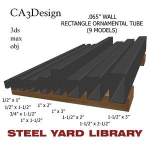 3d wall tube steel model
