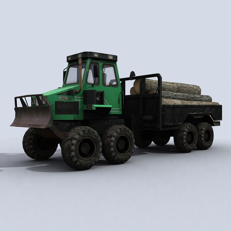 3dsmax forwarder truck vehicle