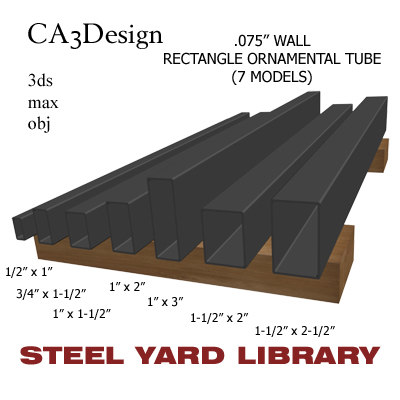 3d model wall tube steel