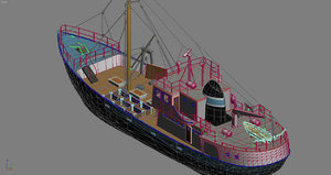 fishboat boat 3d 3ds