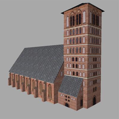 3d church games model