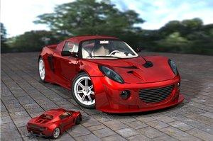 exige vehicle 3d model
