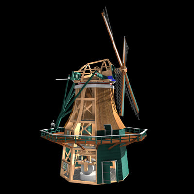 authentic windmill snuffmill 3d c4d