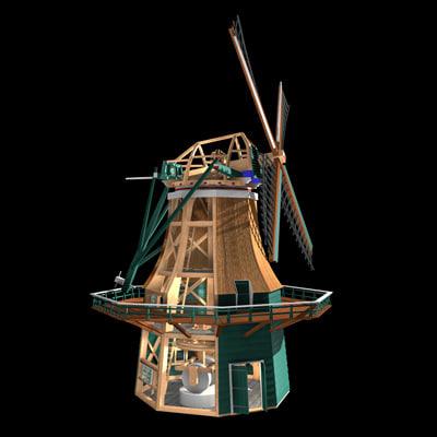 authentic windmill snuffmill 3d c4d