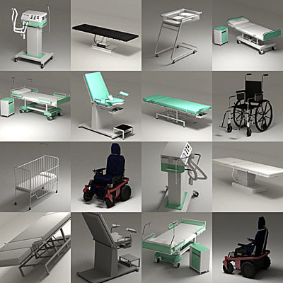 hospital bed 3d 3ds