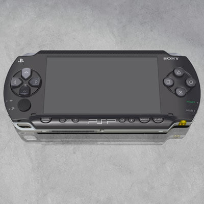 psp sony playstation 3d model
