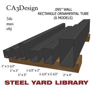 wall tube steel 3d obj
