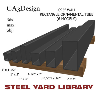 wall tube steel 3d obj