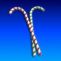 3d model of candycane christmas xmas