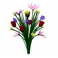 3ds max bouqet flower