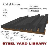 3d model wall tube steel