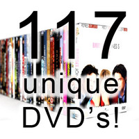 117 unique DVD cases!