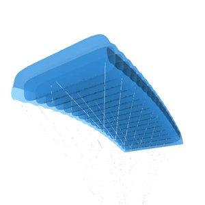 parachute parafoil foil 3d model