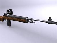 3d m14 rifle model