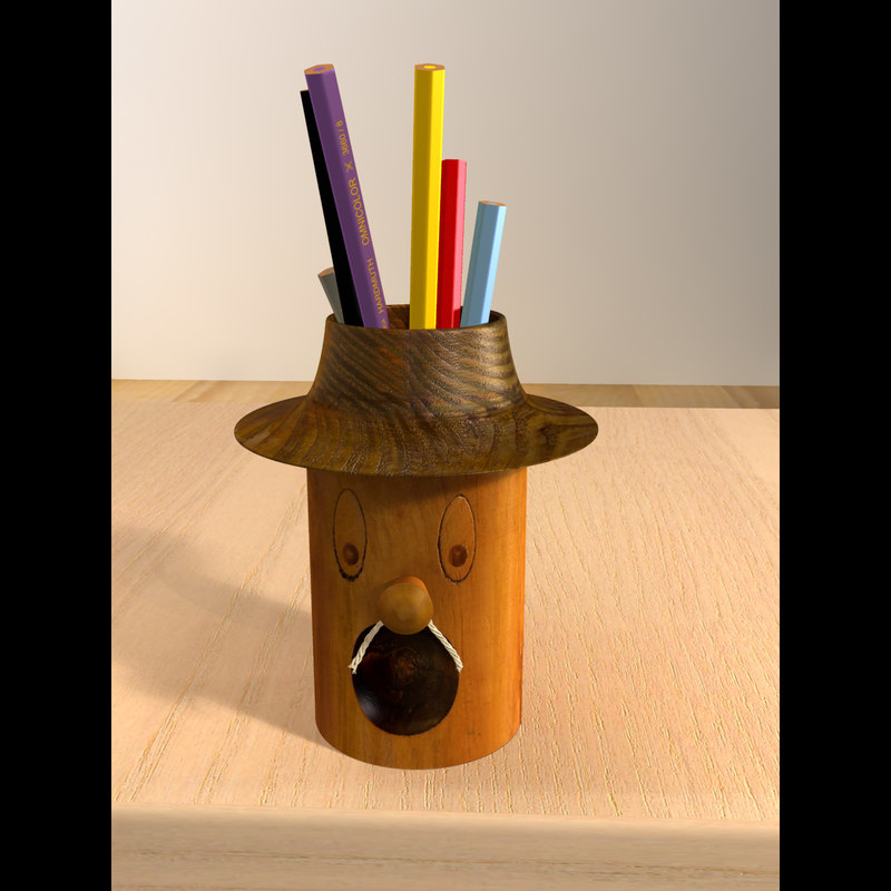 maya rack pencils
