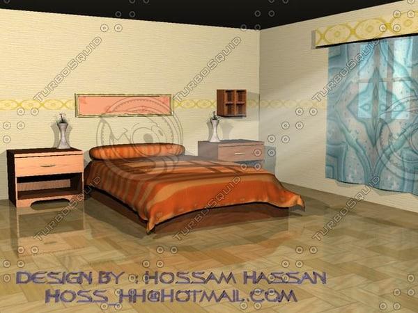 bed room 3d max