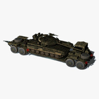 3d model of trailer tank transporting