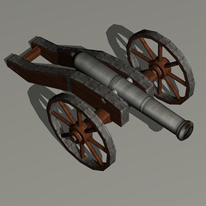 cannon 16th century 3d model