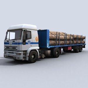 transport truck 3d model