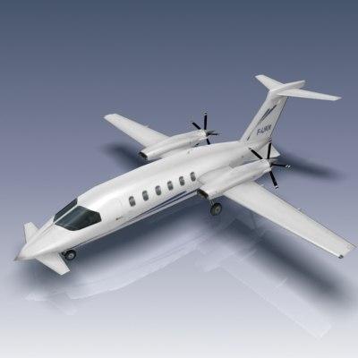 piaggio avanti p180 aircraft 3d model