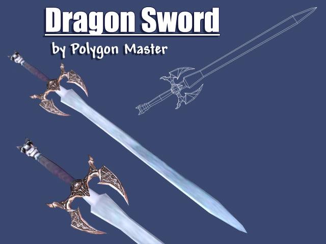 3d dragon sword s