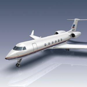 3d model gulfstream gv business jet