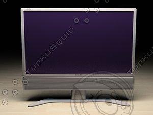 lcd tv sharp aquos 3d model