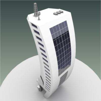 skyscraper sci-fi metropolis 3d max