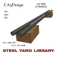 1 4in pipe steel 3d model