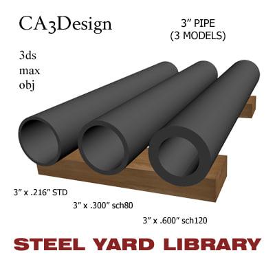 maya 3in pipe steel