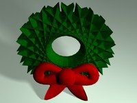 3d simple wreath christmas decorate