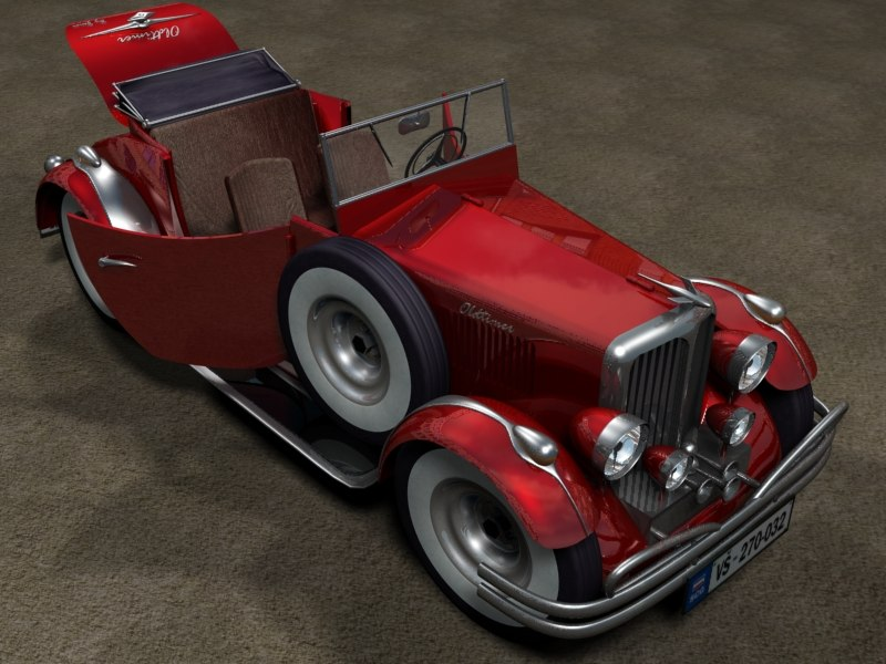 3d model oldtimer car vehicle