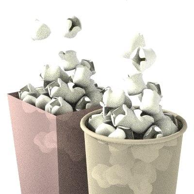popcorn corn pop 3d lwo