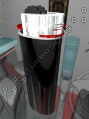 3d detailiertes feuerzeug lighter model