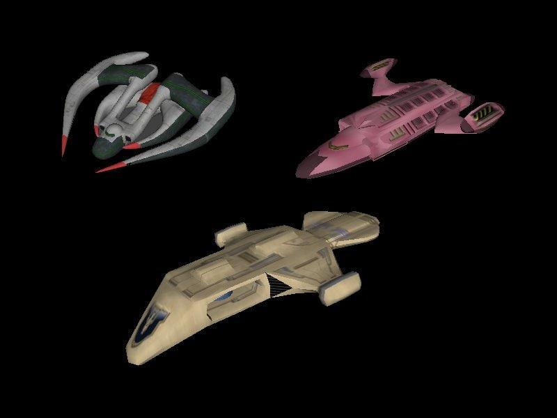 3 spaceships x free