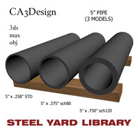 3d 5in pipe steel model