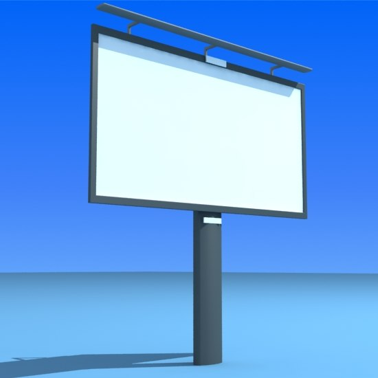 street billboard 3d model