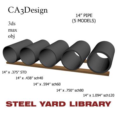 maya 14in pipe steel
