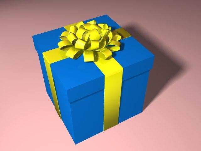 present bow 3d lwo