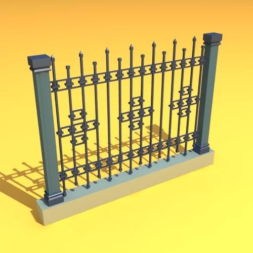 3dsmax fence home garden