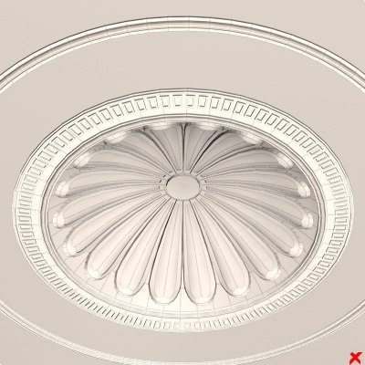 ceiling medallion dxf