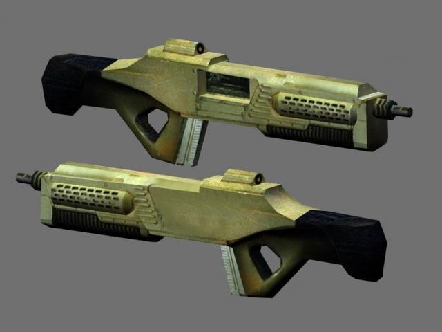 3d scifi rifle model