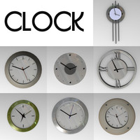 wall clocks 3d model